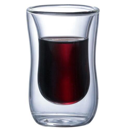 Nouveau 6Pcs 80 ML 2.7 oz Verre double paroi isolée thermiquement Tumbler Espresso Tasse Thé environ 76.54 g
