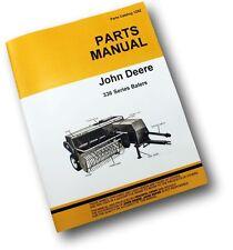 JOHN DEERE 336 HAY BALER PARTS MANUAL KNOTTER SQUARE JD EXPLODED VIEWS ASSEMBLY