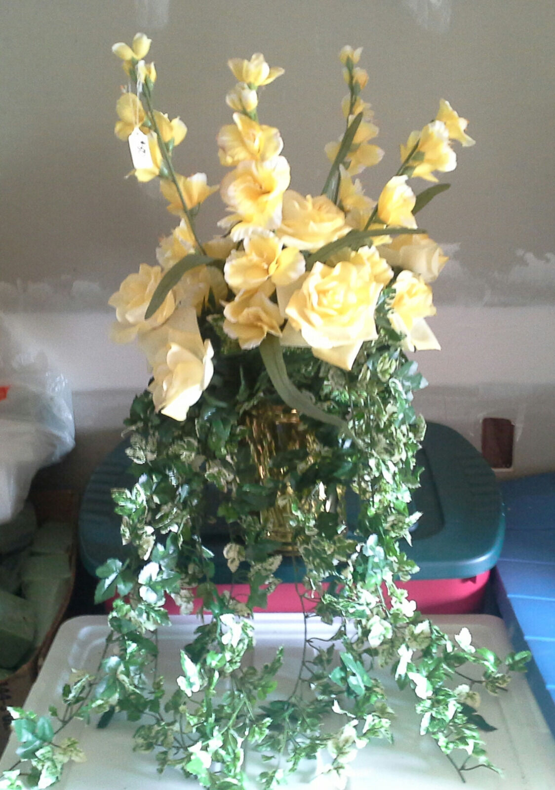 XL Floral Arrangement w  Bristol Brass Container
