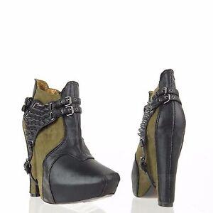 a8772cf652ea Sam Edelman Zoe 2 Women s Green Black Suede Leather Harness Booties ...