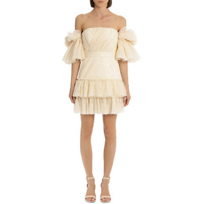 NEW Acler Cooper Dress AS181080D Cream