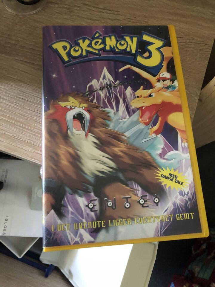 Børnefilm, Pokemon film 1 og 3 vhs