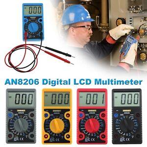 Digital LCD Multimeter Voltage Ohm AC/DC Voltmeter Ammeter Diode Meter Tester