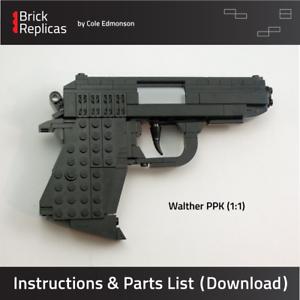 Instructions-amp-Parts-List-for-Custom-LEGO-Walther-PPK-Pistol-Gun-James-Bond-007