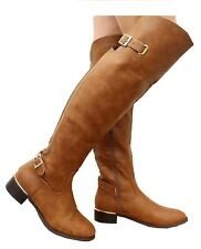 be0864b2561 item 1 LADIES WOMENS OVER THE KNEE ELASTICATED WIDE CALF FLAT RIDING BUCKLE BOOTS  SIZE -LADIES WOMENS OVER THE KNEE ELASTICATED WIDE CALF FLAT RIDING BUCKLE  ...