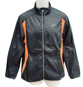 New-NIKE-MENS-RUNNING-Lightweight-Reflective-Active-Running-Rain-Jacket-Black-M