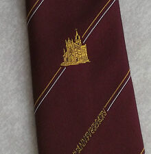 CHURCH CATHEDRAL TIE VINTAGE RETRO 1980s 1990s BURGUNDY 850TH ANNIVERSARY