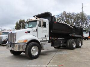 2005 Peterbilt 335 10 Yard T/A Dump Truck Cummins 8.3L A/C PTO Tarp bidadoo
