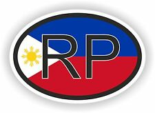 RP Philippines COUNTRY CODE OVAL WITH FLAG STICKER bumper decal car bike tablet