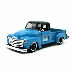1:24 Scale 1950 3100 Blue Chevrolet Pickup Truck Rat Rod Lowered Surf Model 1:25