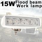 15W Flood beam LED Work Light Lamp Car Off road boat Truck Driving 12V 24V White
