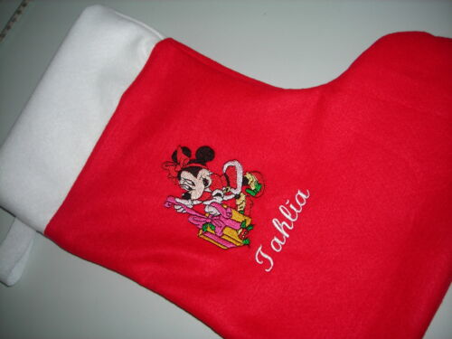 minnie mouse christmas personlized stocking