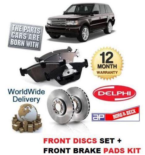 Freno Pad Kit Para Range Rover Sport 3.6 Td V8 2006-2011 Freno Delantero Discos Set
