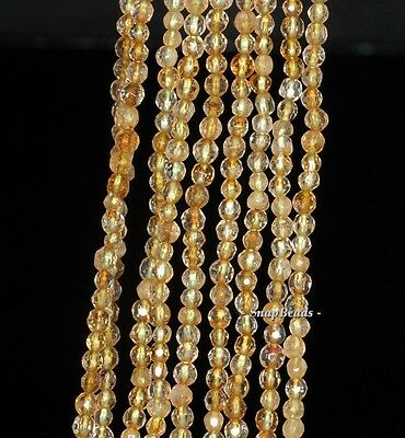 """3MM PREHNITE GEMSTONE INCLUSIONS FACETED ROUND 3MM LOOSE BEADS 16"""""""