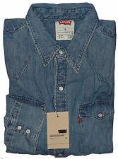 Levi's Men's Denim Barstow Slim Fit Western Shirt Aged Blue #0006 Size M NWT
