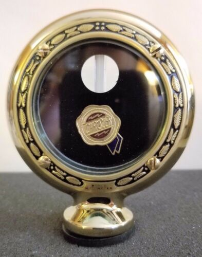 """Chrysler Boyce Senior Motometer Brass W// Wreath Rim 3-3//8/"""" Diameter"""