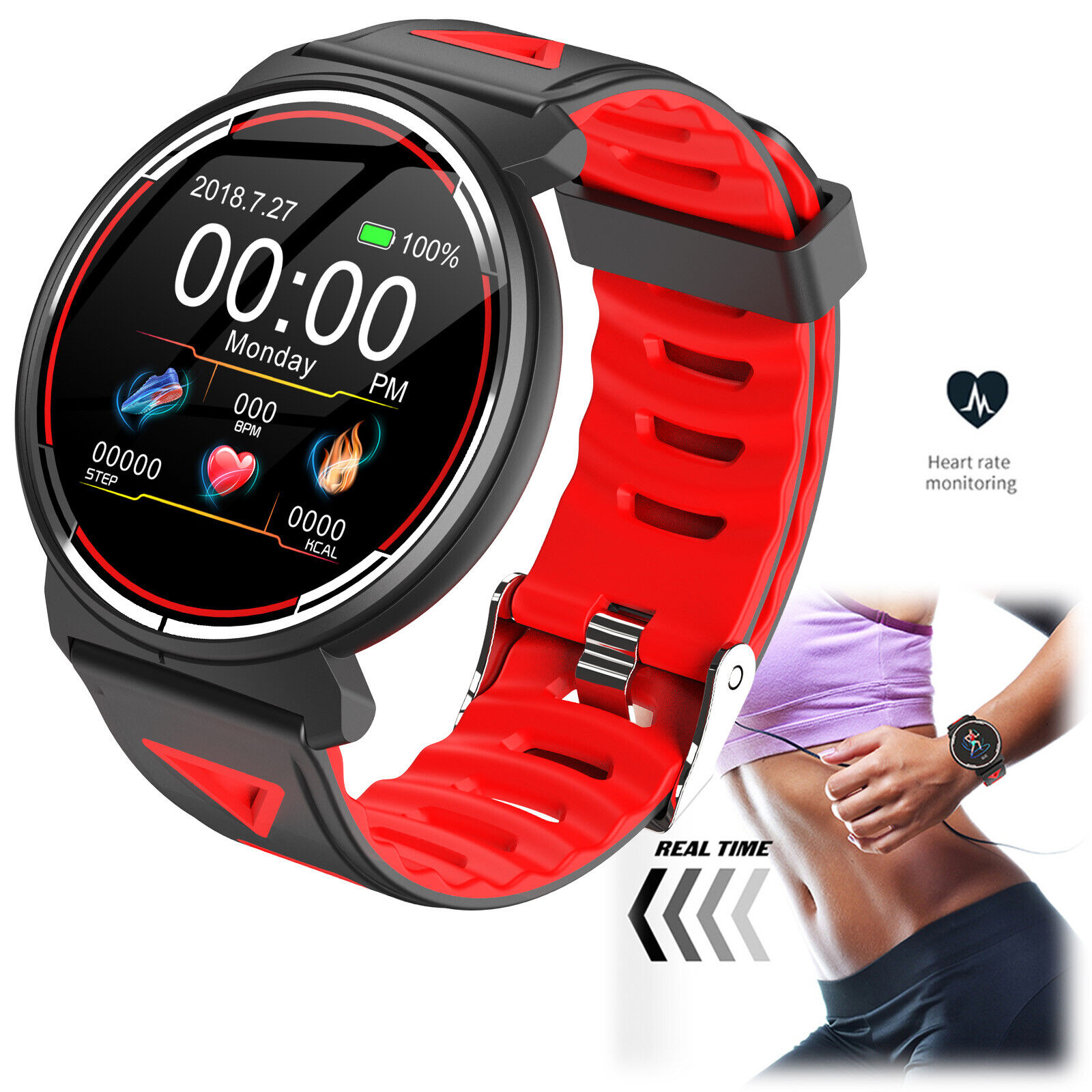 Full Touch Screen Smart Watch Bluetooth Wristwatch for Samsung Nokia 9 8 7 ASUS bluetooth Featured for full nokia samsung screen smart touch watch wristwatch