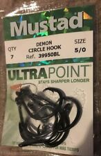 Mustad Ultra Point 4//0 Ringed Demon Perfect Circle Hooks 4x Strong Value Packs