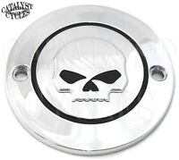 Chrome Ignition Timing Cover With Willie Skull Points Cover For Harley