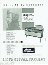PUBLICITE ADVERTISING 125  1959  RIBET DESJARDINS récépteur  Festival Mozart
