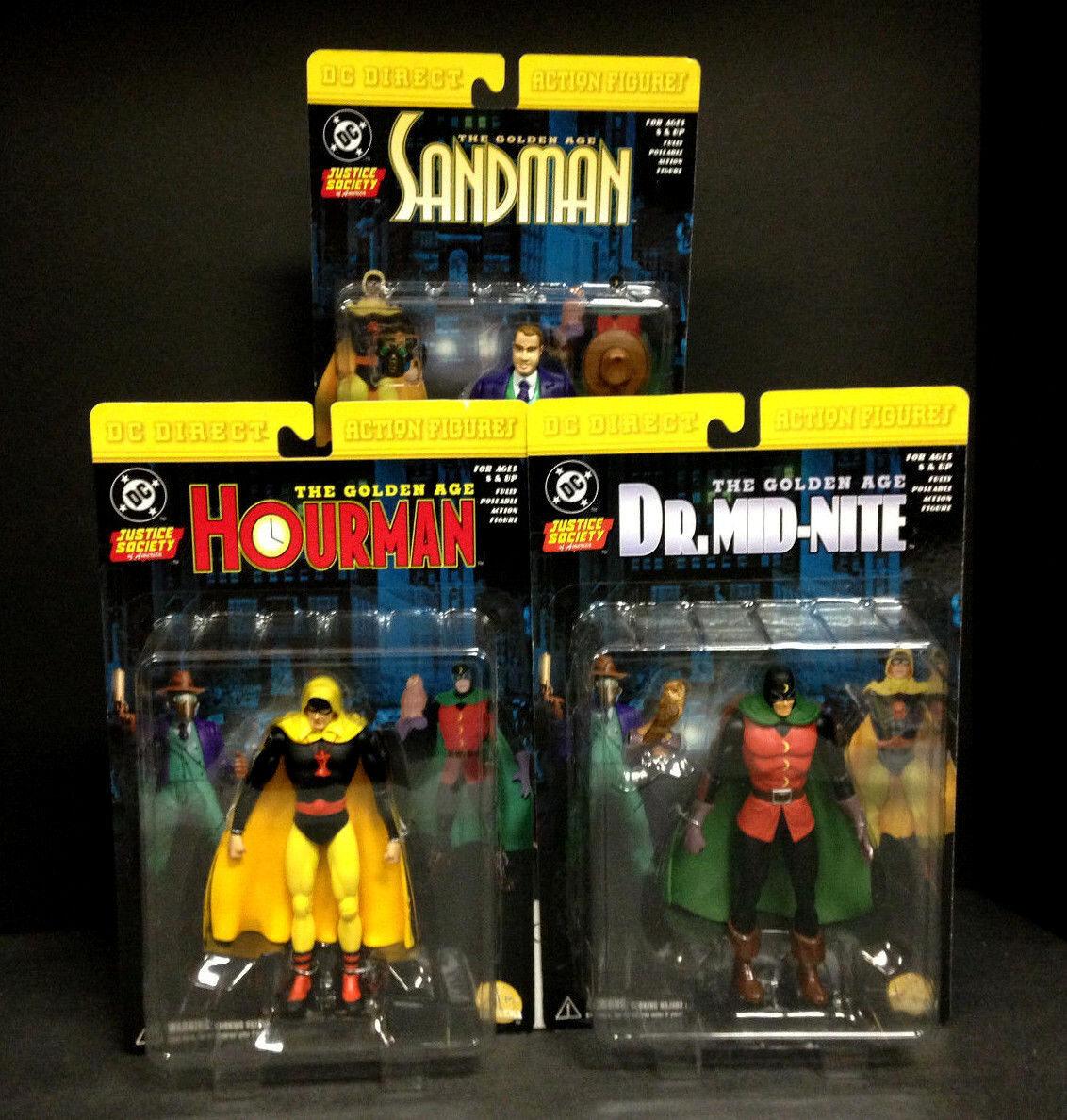 DC Direct Sociedad de la justicia de América Hourman Sandman Dr Mid-Nite Figura setb 314