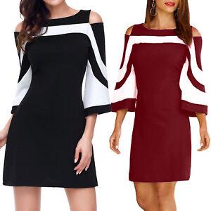 foto ufficiali ea970 a7a64 Dettagli su Vestito donna optical anni 60 miniabito elegante sexy maniche  3/4 nuovo DL-2194