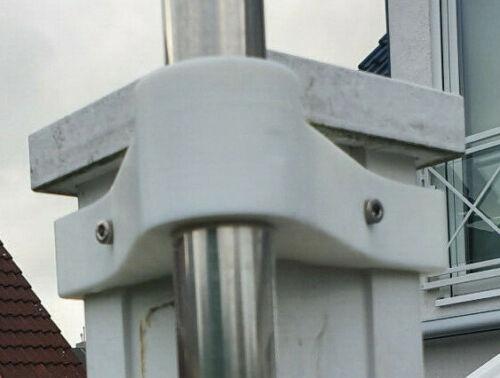 HomeMatic IP Wetterstation Halter Befestigungs Set für Pfosten