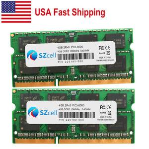 2.4GHz 16GB 2x8GB Memory Sodimm PC3-8500 DDR3-1066MHz Mac mini Mid 2010 New