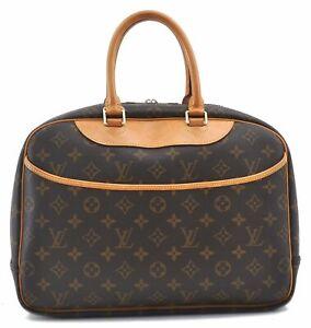 Authentic Louis Vuitton Monogram Deauville Hand Bag M47270 LV B5896