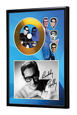 Buddy Holly Gold Vinyl Look CD, Autograph & Plectrum Display #2