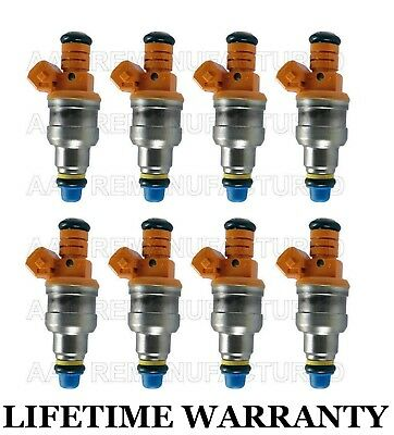 Lifetime Warranty Set of 8 Fuel Injectors for Cadillac 4.5 Chevy 5.7L 17109596