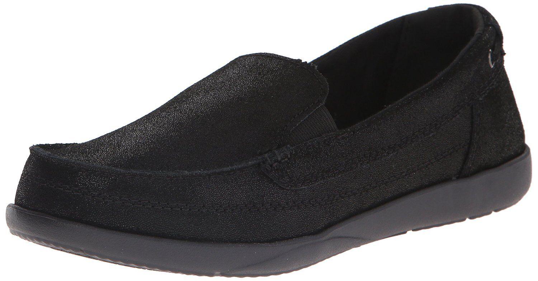 Crocs Walu Shimmer Leather Loafer W6 Black Size W6 Loafer c96038