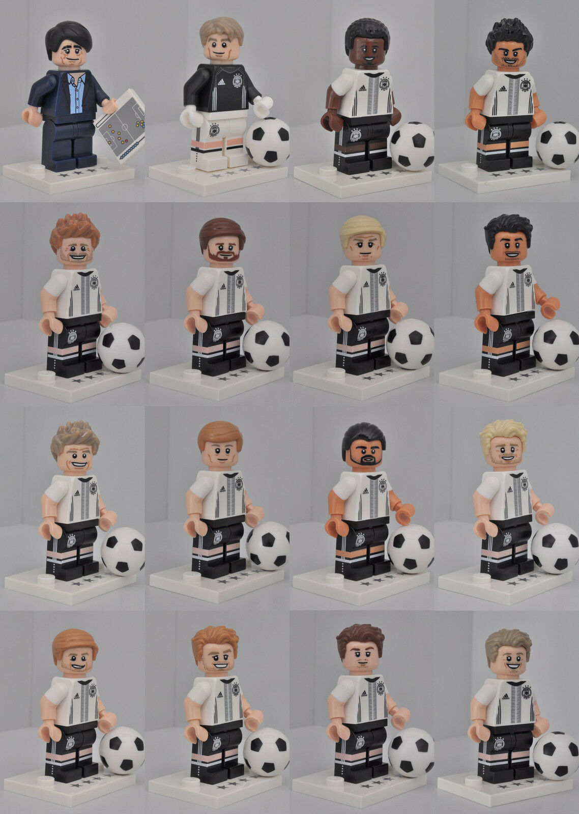 LEGO® MINIFIGUREN 71014 - SONDERSERIE DFB DIE MANNSCHAFT ALLE 16 FIGUREN MIT BPZ