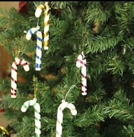 12 x Christmas Tree Decorations 'Candy Canes' Xmas Hanging Santa 2 Packs of 6.