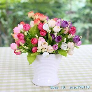 6 pcs mini silk roses artificial flowers home decoration no vase image is loading 6 pcs mini silk roses artificial flowers home mightylinksfo