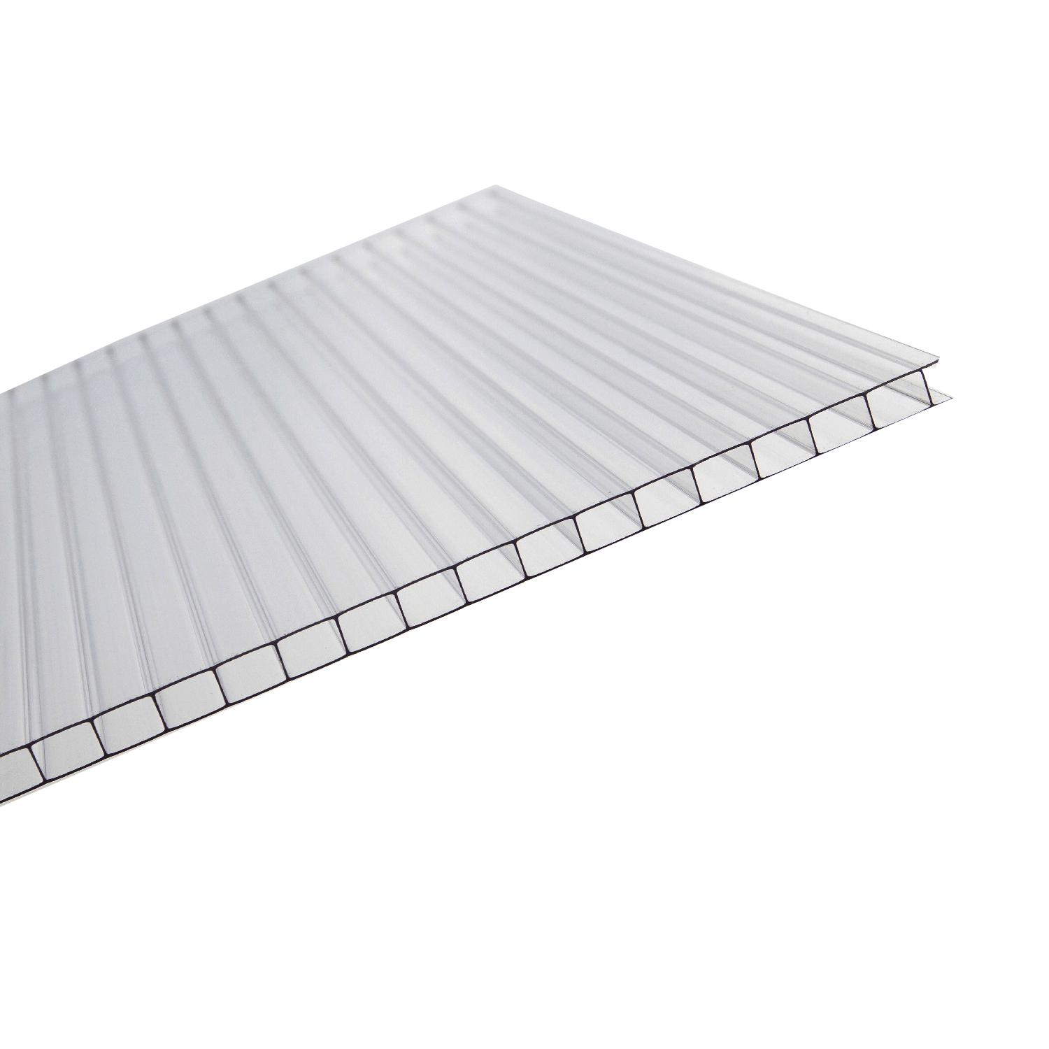 10mm Clear Polycarbonate Roofing Sheet Various Size - UV Protection