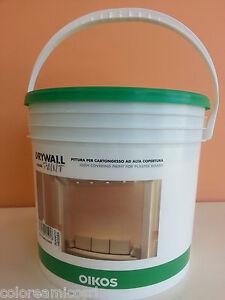 Drywall paint oikos pittura vernice per cartongesso ad for Pittura brillantinata oikos