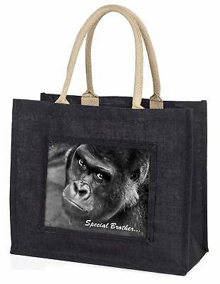 'Spezial Bruder' Gorilla große schwarze Einkaufstasche WEIHNACHTEN