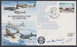 Cmdr. Alex Vraciu, Navy Ace & Navy Cross recipient, signed V-J Day Cover