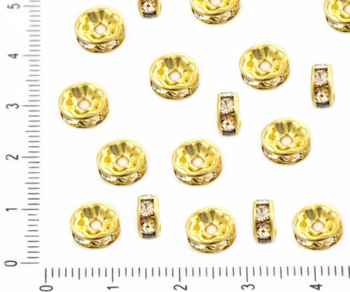 30pcs Crystal Rhinestone CZ Micro Pave Cubic Zirconia Crystal Large Hole Spac...