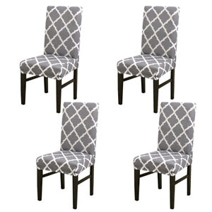 Wondrous Details About 4X Spandex Stretch Chair Cover Banquet Party Decor Dining Room Seat Covers Gray Uwap Interior Chair Design Uwaporg