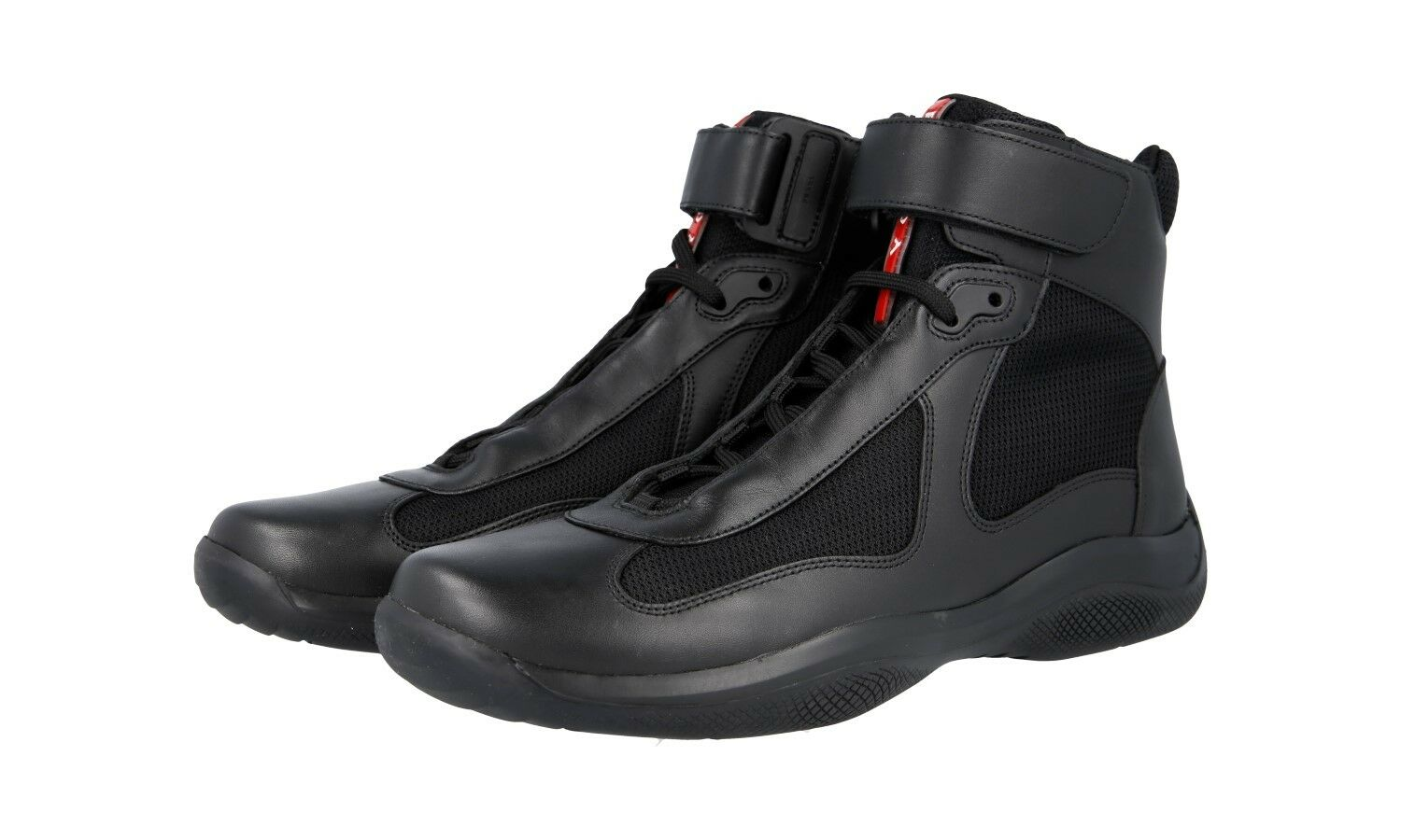 shoes HIGH-TOP SNEAKER PRADA LUXUEUX 4T0341 black NOUVEAUX 7 41 41,5