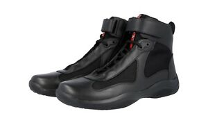 High 5 4t0341 Americas de Negro para Prada Zapatillas 44 Cup 44 10 top zapatillas altas Nuevo ZXqxza