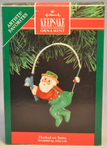 Hallmark Hooked on Santa 1991 Classic Keepsake Ornament