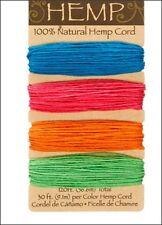 *NEW* Neon Colors 100% Natural 20lb Hemp Cord Set 120ft