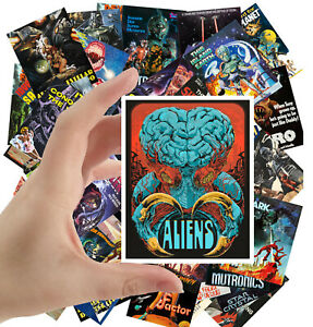 Stickers Pack 24 Stkrs 2 5 X3 5 Ea Aliens Sexy Girl Vintage Horror Movie 1078 Ebay