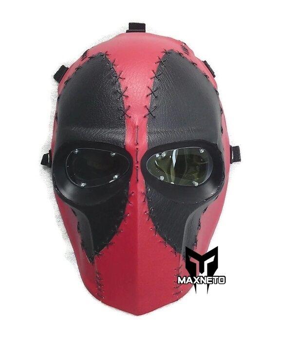 Maxneto Juego De Paintball Airsoft Táctico Full Face projoeger seguridad MásCochea Deadpool