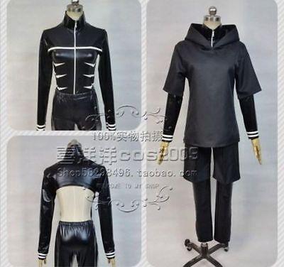 New Hot Tokyo Ghoul Ken Kaneki Fight Black Uniform Made Cosplay Costume