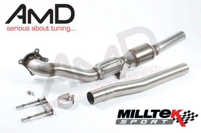 audi a3 2.0 tfsi milltek sport cast large bore downpipe & high flow