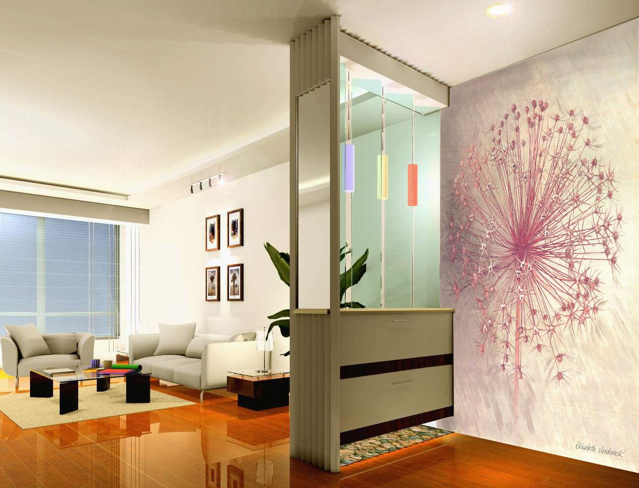 3D Pink Dandelion 56 Wall Paper Wall Print Decal Wall Deco Indoor Mural Lemon